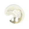 Bead Crimp Covers 4mm Plated Silver